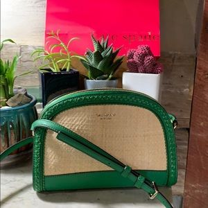 Kate Spade Cross body green and thatch